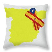 Heal Spain And Catalonia Throw Pillow