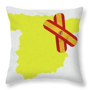 Heal Spain Throw Pillow
