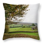 Healaugh, Swaledale Throw Pillow