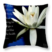 Healing Lily Throw Pillow