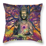 Healing Nature Throw Pillow by Christopher Beikmann