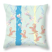 Healing  Thoughts Throw Pillow