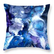Healing With Blues Throw Pillow