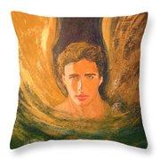Healing With The Golden Light Throw Pillow