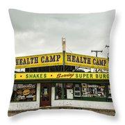 Health Camp Throw Pillow