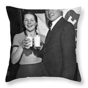 Health Champions Drink Milk Throw Pillow