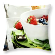 Healthy Breakfast Throw Pillow