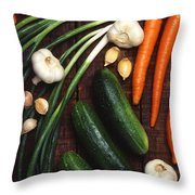 Healthy Vegetables Throw Pillow