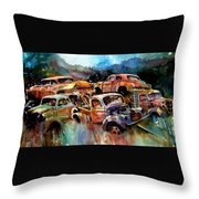 Heaped Wrecks Throw Pillow