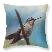 Hear Her Song - Hummingbird Art Throw Pillow