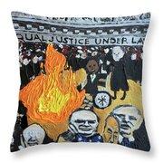 Hear No Evil See No Evil Judicial Abuse Throw Pillow