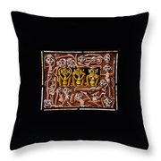 Hear No Evil, See No Evil, Speak No Evil Throw Pillow