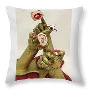 Hear, See, Speak No Evil Throw Pillow