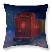 Hear That Lonesome Whistle Throw Pillow
