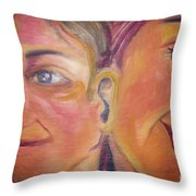 Hearing The Same Stories Throw Pillow