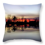 Hearns Pond Silhouette Throw Pillow