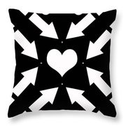 Heart And Arrows Throw Pillow