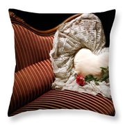 Heart And Rose Victorian Style Throw Pillow