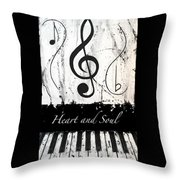 Heart And Soul - Music In Motion Throw Pillow