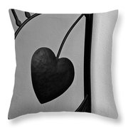 Heart Art Throw Pillow