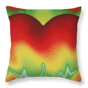 Heart Beat Throw Pillow