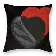 Heart Blocker Throw Pillow