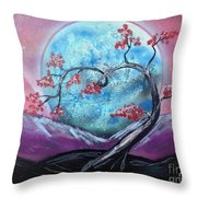 Heart Blossom Throw Pillow