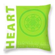 Heart Chakra Series Three Throw Pillow