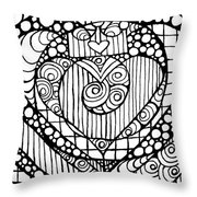 Heart Crown Tangle Throw Pillow