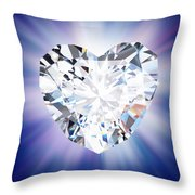 Heart Diamond Throw Pillow by Setsiri Silapasuwanchai