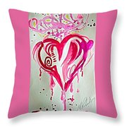 Heart Energy Throw Pillow