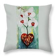 Heart In Bloom Throw Pillow