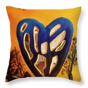 Heart In Glory Throw Pillow