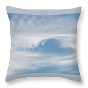Heart In The  Sky Throw Pillow