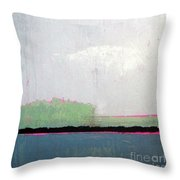 Heart Lake - Abstract Landscape Throw Pillow