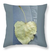 Heart Leaf Throw Pillow