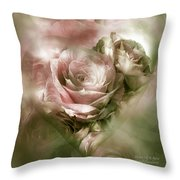 Heart Of A Rose - Antique Pink Throw Pillow