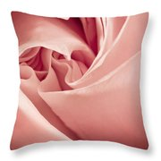Heart Of A Rose In Pink Throw Pillow