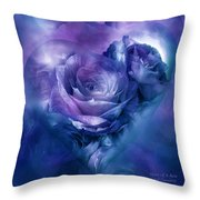 Heart Of A Rose - Lavender Blue Throw Pillow
