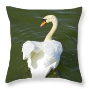 Heart Of A Swan Throw Pillow