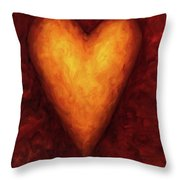 Heart Of Gold 3 Throw Pillow