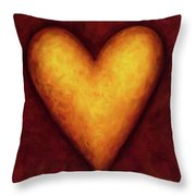 Heart Of Gold 4 Throw Pillow