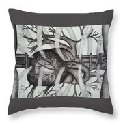 Heart Of Man Throw Pillow