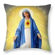 Heart Of Mary Throw Pillow