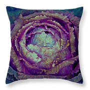 Heart Of Mystery In Magenta And Green Throw Pillow