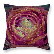 Heart Of Mystery In Red And Green Throw Pillow