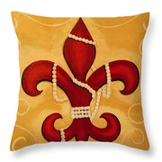 Heart Of New Orleans Throw Pillow