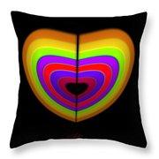 Heart Of Ochre Throw Pillow
