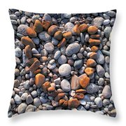 Heart Of Stones Throw Pillow