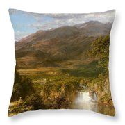 Heart Of The Andes Throw Pillow